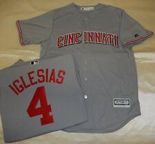 9514 Majestic MENS Cincinnati Reds JOSE IGLESIAS Baseball Jersey New GRAY