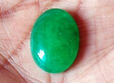 NATURAL GREEN OVAL CABOCHON JADE 19 CTS LOOSE GEMSTONE