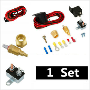 1Set For Car Electric Fan Wiring Installation Tool Kit 12V 185 Degree Thermostat