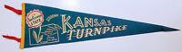 "Vintage Kansas Sunflower State Kansas Turnpike Souvenir Pennant-Banner 26"" Felt"