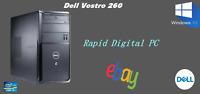Dell Vostro 260 Intel i3-2120 4Gigs 240Gig SSD Windows 10 Pro 64x