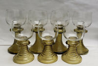 Seven (7) THERESIENTHAL Wine Goblets - KURFURST Pattern in Olive Green
