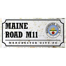 Manchester City FC Maine Road Retro Street Sign - Free UK 1st Class Delivery