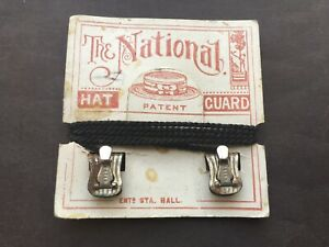 SCARCE C1890s VINTAGE THE NATIONAL HAT GUARD ON ITS ORIGINAL CARD