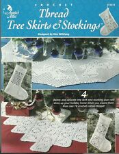 Crochet Thread Tree Skirts & Stockings Kim Wiltfang Christmas Patterns NEW