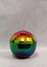 Rainbow Disco Ball Plastic Cup 12oz Pride Night BDay Bachelorette 70s Party Gift