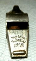 VINTAGE THE ACME THUNDERER Whistle MADE IN ENGLAND Police Military WORKS GREAT