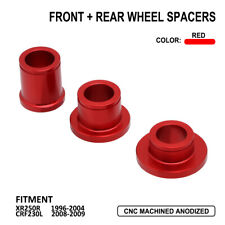 Front Rear Hub Wheel Spacers For Honda XR250R 1996-2004 CRF230L 2008-2009 Red