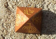 Red jasper pyramid engraved 4 reiki symbols and pentacle~Reiki healing