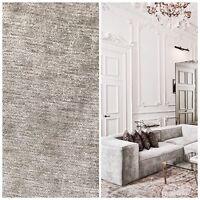 Designer Velvet Chenille Fabric - Antique Silver Gray - Upholstery