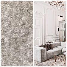 SWATCH: Designer Velvet Chenille Fabric - Antique Silver Gray - Upholstery