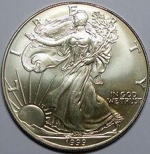 1999  AMERICAN EAGLE SILVER COIN, 1 Oz.999% Purity, Brilliant Uncirculated C#3