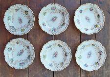 6 kleine Teller, Dessertteller, handbemalt, 19. Jahrhundert  (# 6171)