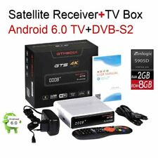 Android 6.0 4K TV BOX 2/8GB Amlogic S905D Combo DVB-S2 Satellite Receiver BT4.0