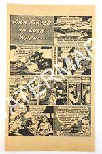 1949 Gillette Razor Blades Fantastic Novels Magazine Black & White Print Ad 023A