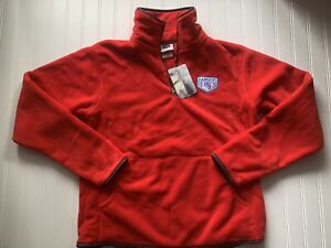 New York Rangers NHL Red Fleece Jacket Women-Large NEW