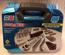 Channellock 39070 94 Piece Mechanics Tool Set Black Box Channel Lock New