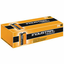 Duracell P012GEA Industrial Alkaline Batteries (box of 10) Type Pp3 9v