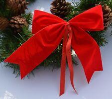 4 plus1 gratis- 5 wetterfeste rote Schleifen, Advent, Weihnachten, Outdoor,