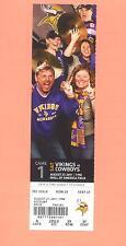 Dallas Cowboys @ Minnesota Vikings 2011 tickets stub UNused MINT condition MN Z