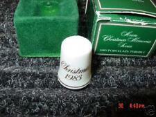 Vintage,Avon,Thimble,Porcelain,1983,Box,Christmas,Xmas