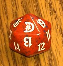 1 Red SPINDOWN Die Deckmaster - 20 sided Spin Down Dice MtG Magic the Gathering