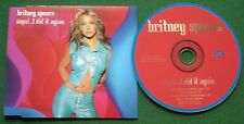 Britney Spears Oops I Did it Again Absolutely Excellent Condition CD Single