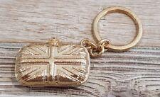 Oro de Alexander McQueen Union Jack Clutch Bag cráneo KEYRING LLAVERO