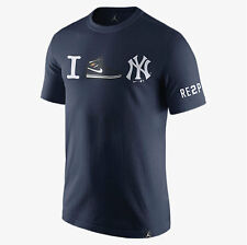 NIKE JORDAN DEREK JETER RE2PECT I HEART NY RETIREMENT TEE Size Large