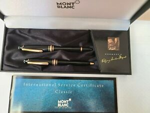Montblanc  MOZART FP & BP 14K M Nib Pen Set Good Condition,