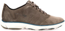 Geox U Nebula C Shoes Men's SIZE 6 Suede Sneakers Taupe U74D7C NEW Factory 2nd