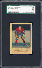 1951-52 Parkhurst #1 Elmer Lach (Canadiens) SGC 96 MINT. Absolutely Stunning!