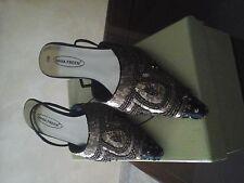 scarpe nero e  oro tg 38