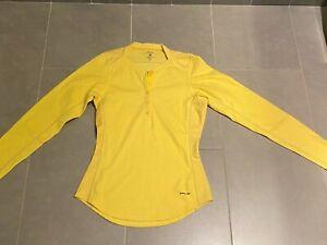 Patagonia Womens Capilene Light Weight Long Sleeve Base Layer Yellow Top XS