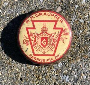 R.H. GRAUPNER BEER CORK BOTTLE CAP CROWN HARRISBURG PA