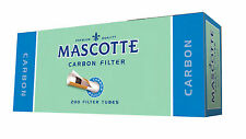 Mascotte CARBON Filter cigarette tubes 5x200 (like Rizla Concept) MYO Charcoal