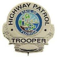 FLORIDA HIGHWAY PATROL TROOPER POLICE  LAPEL BADGE PIN