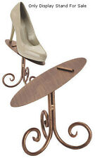 New Retails Cobblestone Shoe Display Stand 6 Inch with rich cobblestone finish