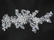 White bridal wedding sequins lace Applique/ floral lace motif Sold by per piece