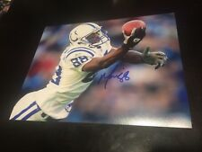 Marvin Harrison auto nfl 8x10,Indianapolis colts coa & holo 100% authentic
