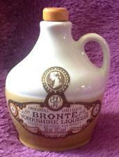 Miniature stoneware bottle / flagon Souvenir Bronte Yorkshire Liqueur (empty)