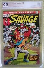 "Doc Savage #3 (Feb 1973, DC) PGX 9.0 VF/NM  Tom Palmer ""Signature"""