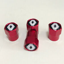 4PCS Sport Styling RED Tyre Valve Caps Accessories Tire Dust Cover Renault