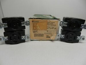 Bryant 3430 Single Receptacle 4 Pole 4 Wire 30A 120/208V 30Y Lot of 4