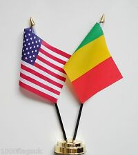 United States of America & Mali Double Friendship Table Flag Set