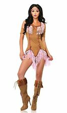 LEG AVENUE BRAND NEW Womens Indian Maiden Tan Halloween Party Dress Costume S/M