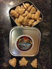 Maple sugar candy in decorative tin