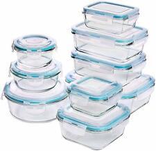 Récipient En Verre Hermétique Boîtes Alimentaires Lunchbox Tupperware 18 pièces