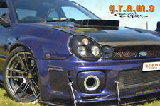 Subaru Impreza Front Bumper Splitter / Lip with Pair of RODS INCLUDED V6