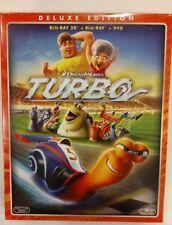 Turbo - Deluxe Edition (Bluray 3D + Bluray + Dvd) Nuovo e Sigillato